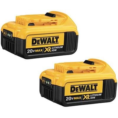 DCB204-2 |  batterie DCB204 20V MAX * Premium XR 4.0Ah Lithium Ion Pqt.2