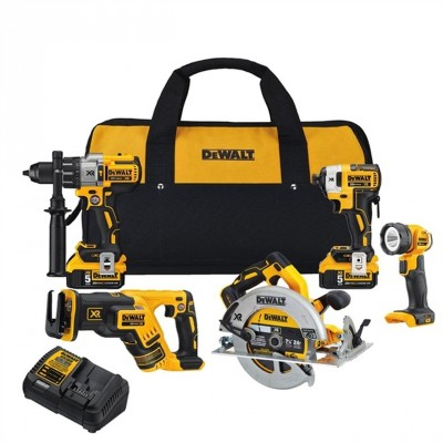 DCK594P2 / Dewalt DCK594P2 20V MAX XR 5-tool Combo Kit with 2x 5.0Ah Batteries