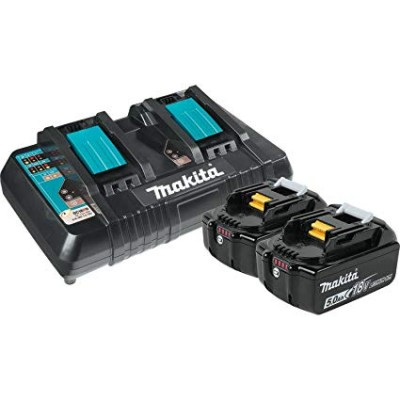 Y-00359 | Ensemble batterie li-ion 18 V 2 x 5,0 Ah et chargeur double Makita