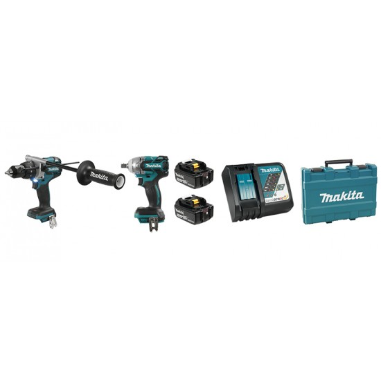 DLX2185T | Ensemble de 2 outils 18V (5,0 Ah) LXT Makita Brushless