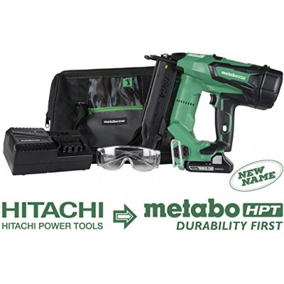NR1890DC / Metabo-HPT HIT-NR1890DC 30-34 Degree Cordless Framing Nailer 3.0Ah Kit - Green Lightning