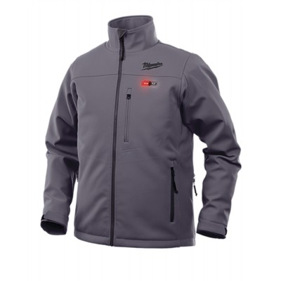 202G-21 | Milwaukee Tool Gray M12™ Heated TOUGHSHELL™ Jacket KIT