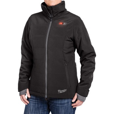 232B-21 | Milwaukee Tool Black Women's Heated SOFTSHELL Jacket KIT