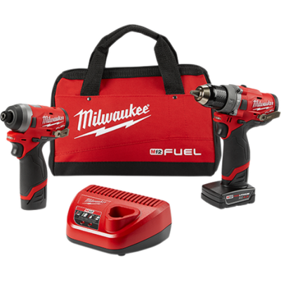 2598-22 | Milwaukee 2598-22 M12 FUEL Hammer Drill and Impact Driver Combo Kit