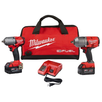 2993-22 / Milwaukee 2993-22 M18 Fuel High Torque 1/2 in. and 3/8 in. Impact Kit