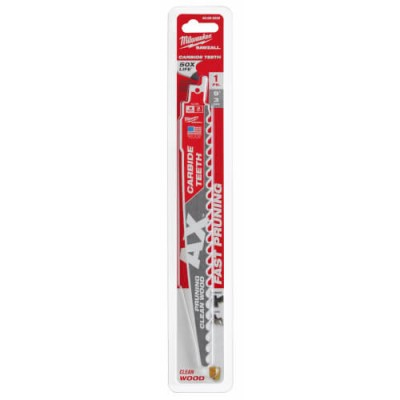 48-00-5232 | Milwaukee 48-00-5232 9″ 3-TPI The AX Reciprocating Saw Blade for Pruning Clean Wood 1-Pack