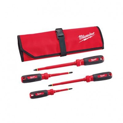 48-22-2204 / 48-22-2204 4 PC 1000V Insulated Screwdriver Set w/ Roll Pouch Milwaukee