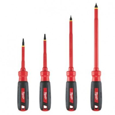 48-22-2205 / 48-22-2205 4 PC 1000V Insulated Screwdriver Set with Square Recess Milwaukee