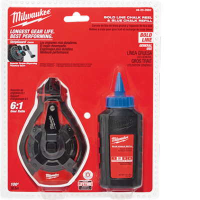48-22-3982 | Milwaukee 100' Bold Line Kit w/ Blue Chalk