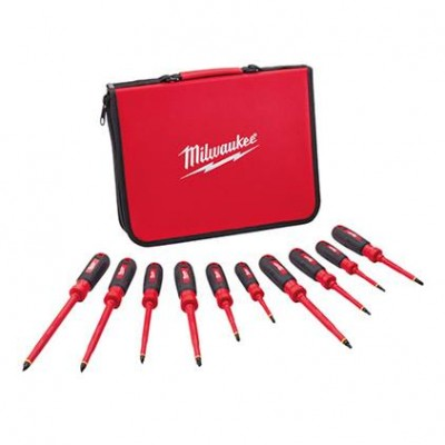 48-22-2210 / 48-22-2210 10 PC 1000V Insulated Screwdriver Set w/ EVA Foam Case Milwaukee