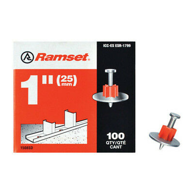 1508SD / Ramset Drive Pin: 1 inch Drive Pin with Washer (100-Pack) Cap